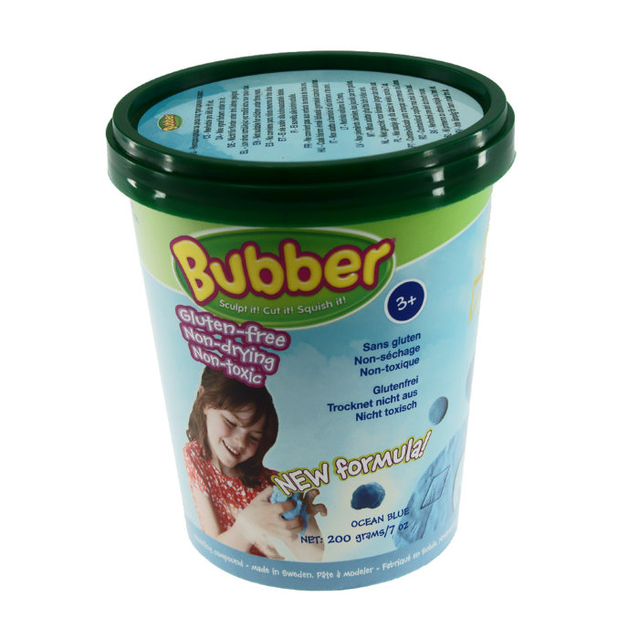 Масса для лепки WABA FUN Bubber 200 гр. (синий)